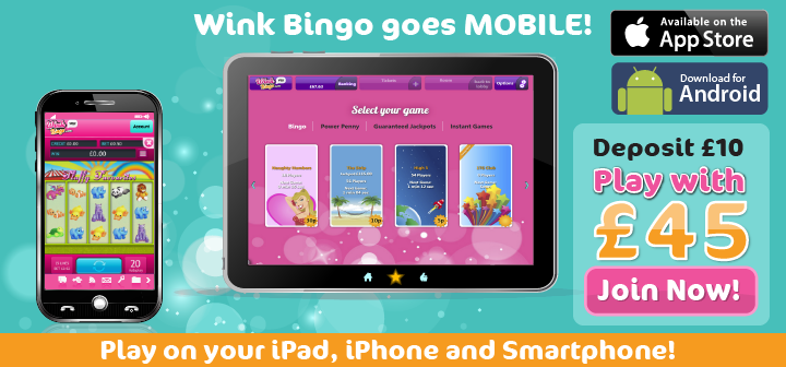 wink bingo on mobile and tablet