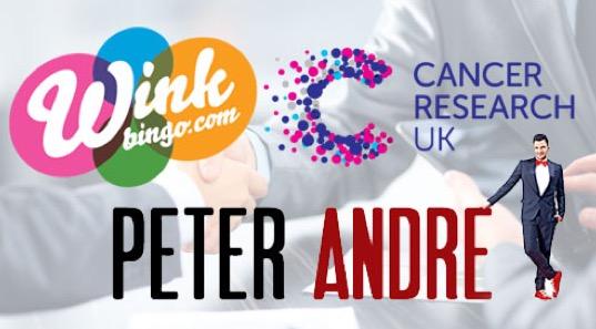 wink bingo peter andre charity bonuses